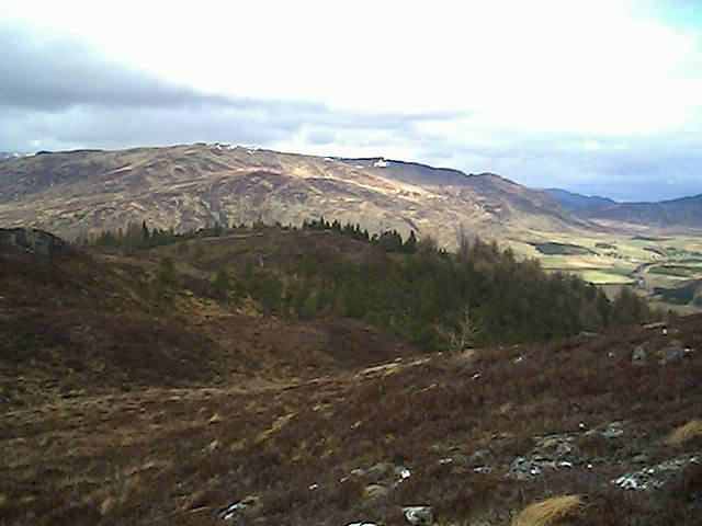Photo: view along a ridge in the Scottish highlands